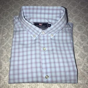 Vineyard Vines Blue Classic Fit Tucker Shirt Sz XL